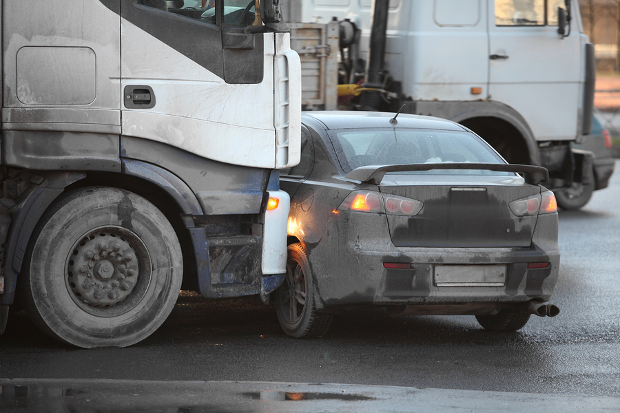 clash truck and car