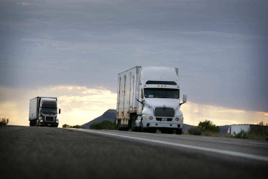 two-semi-truck-on-road