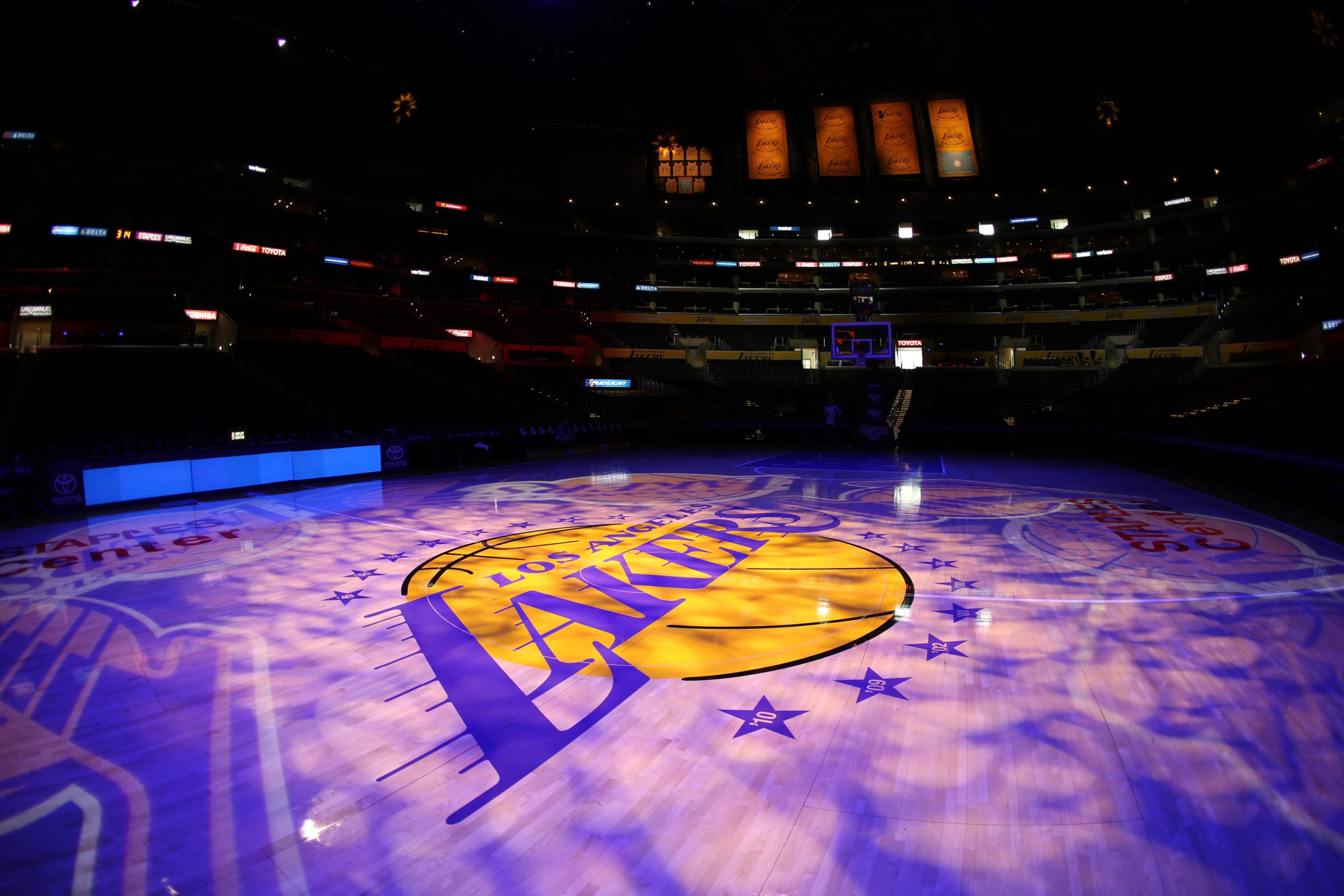 Los Angeles Lakers Basketball Court