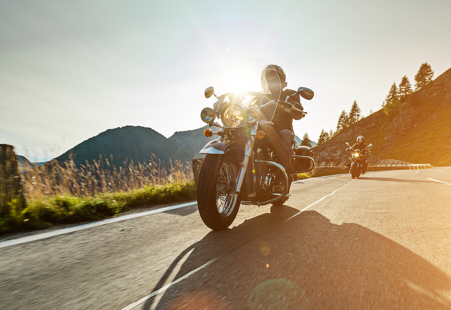 Motorcycle-drivers-riding-on-highway