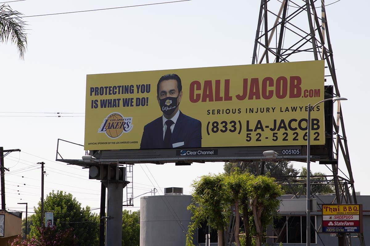 Jacob Emrani Masked Billboard