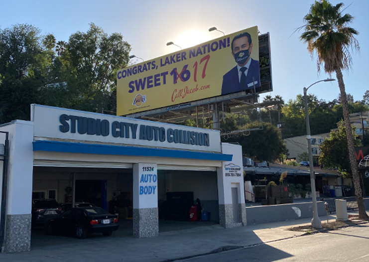 Sweet 17 Lakers Billboard
