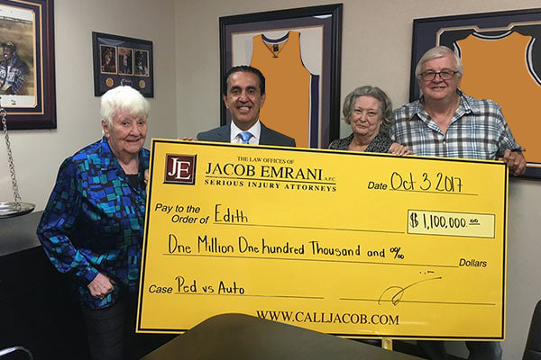 Jacob and Edith's Family with Settlement Check