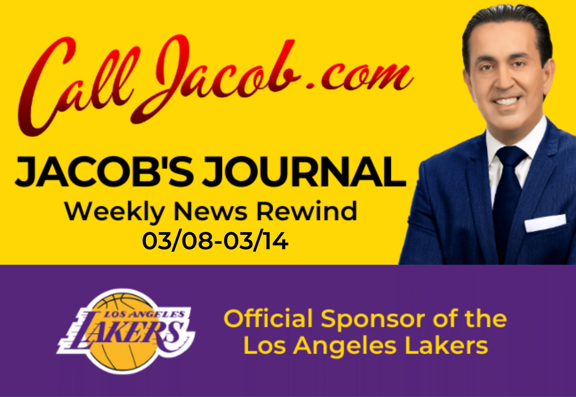 JacobsJournalWeeklyNewsRewind March 8th to March 14th 2021