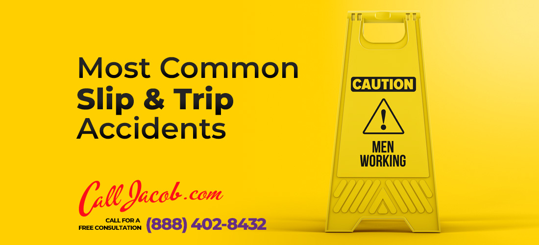 most common slip and fall accidents
